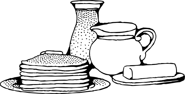 Breakfast With Pancakes Clip Art At Clker Com   Vector Clip Art Online