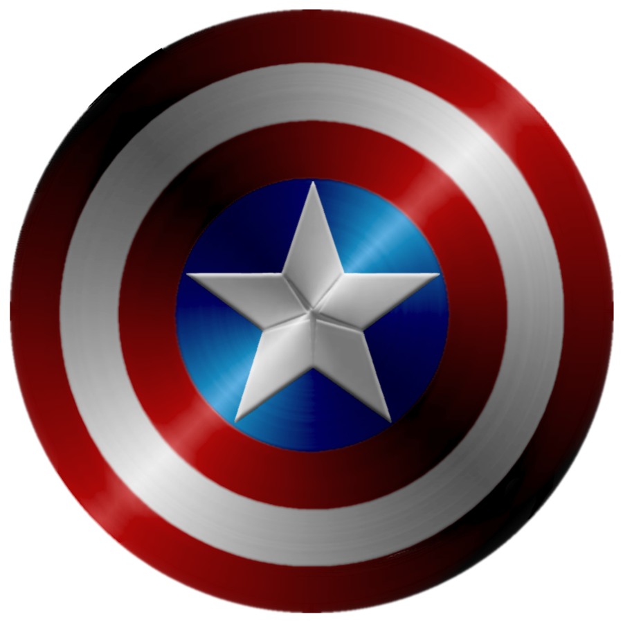 Captain America Shield Black And White Redo By Clipart