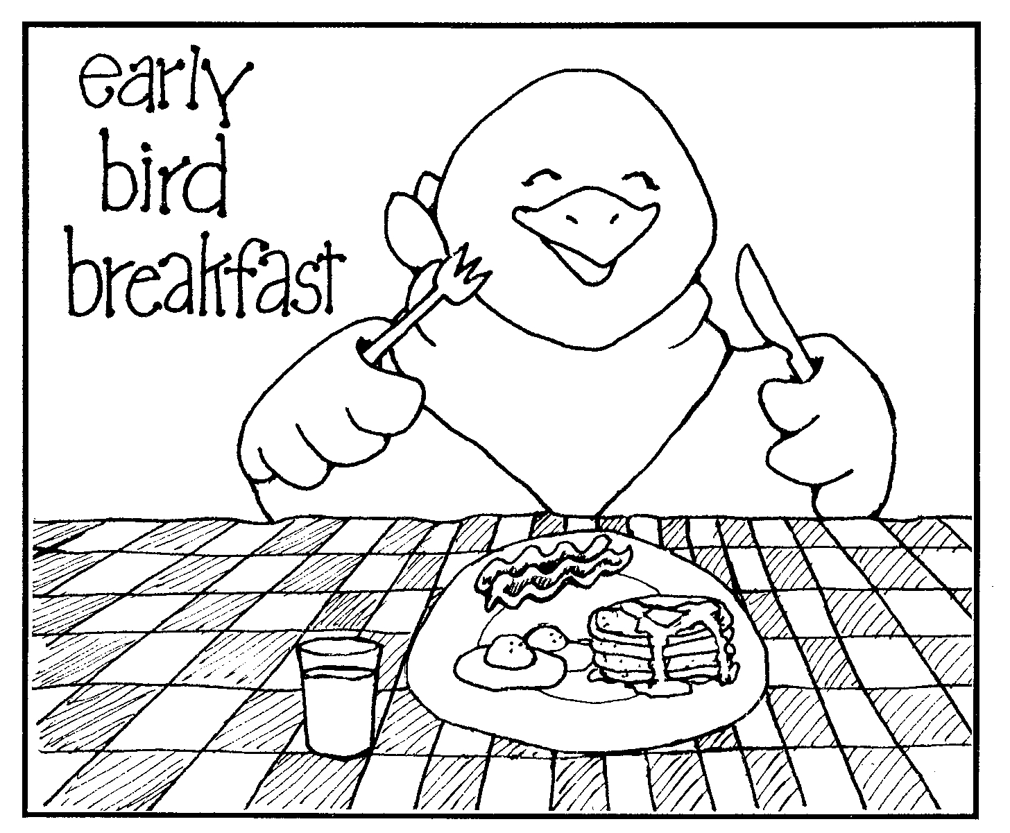 Clip Art Breakfast Coloring Page suggestions online images of eat breakfast clipart black and white kid