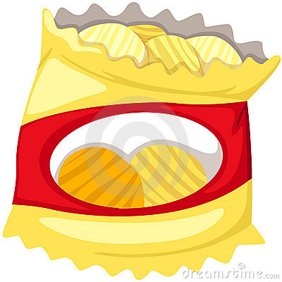 Chips Clip Art Bag Of Potato Chips Clipart