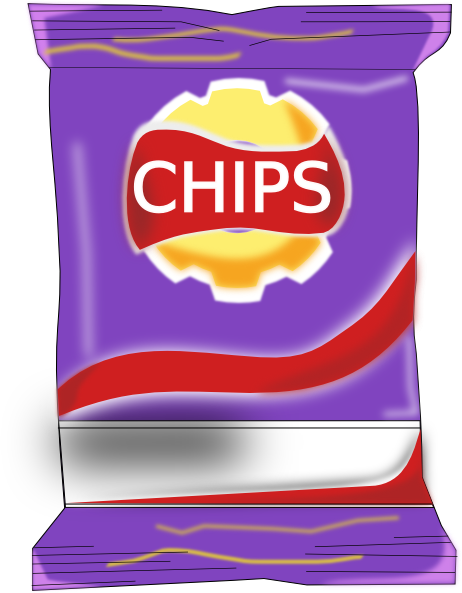 Chips Packet Clip Art At Clker Com   Vector Clip Art Online Royalty