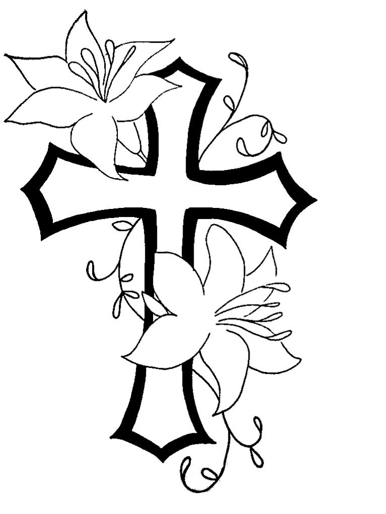 Cross With Flowers Clipart - Clipart Kid