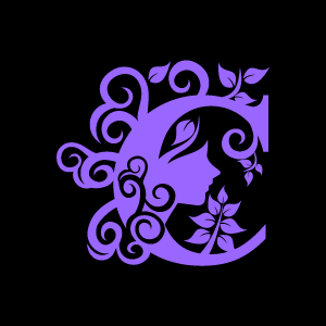 Flower Clipart   Purple Alphabet C With Black Background   Download