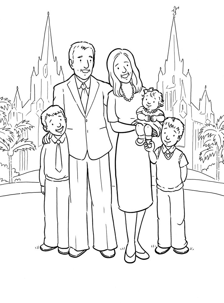 Free Lds Clipart To Color For Primary Children   Lds Missionary