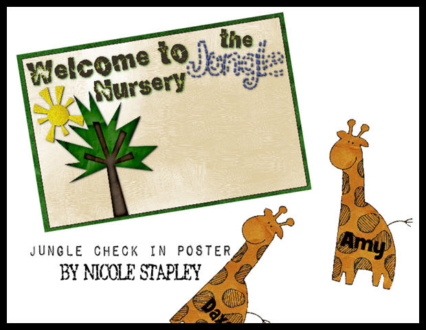 Jungle Nursery Check In Poster