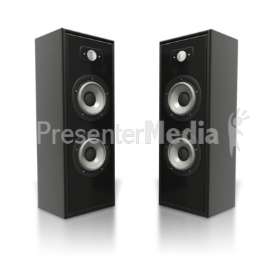 Large Speaker Towers   Presentation Clipart   Great Clipart For