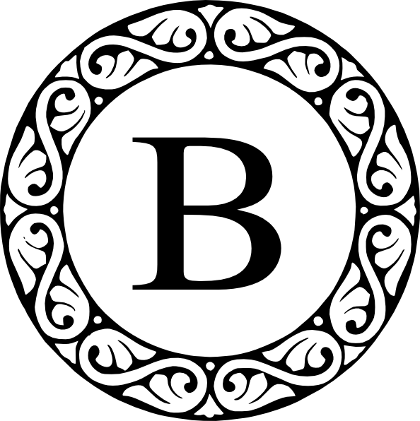 Letter B Monogram Clip Art At Clker Com   Vector Clip Art Online