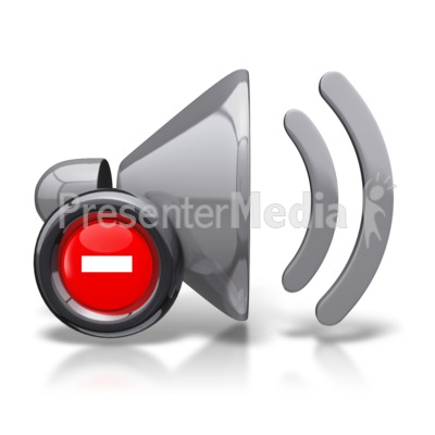 Mute Speaker Icon Presentation Clipart