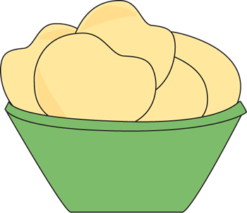 Of Potato Chips Clip Art Image   Green Bowl Of Plain Potato Chips