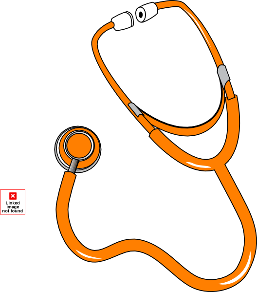 Orange Stethoscope By Pep Clip Art At Clker Com   Vector Clip Art