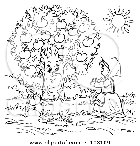35 Apple Orchard Coloring Page Floral Scene Coloring