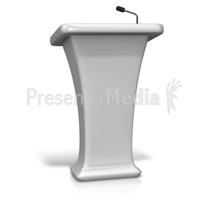 Single Podium Microphone   Presentation Clipart   Great Clipart For