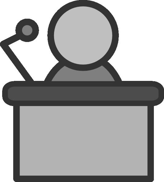 Speaker Podium Mic Clip Art At Clker Com   Vector Clip Art Online