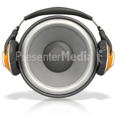 Speaker Wearing Headphones   Science And Technology   Great Clipart