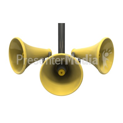Three Loud Speakers   Presentation Clipart   Great Clipart For