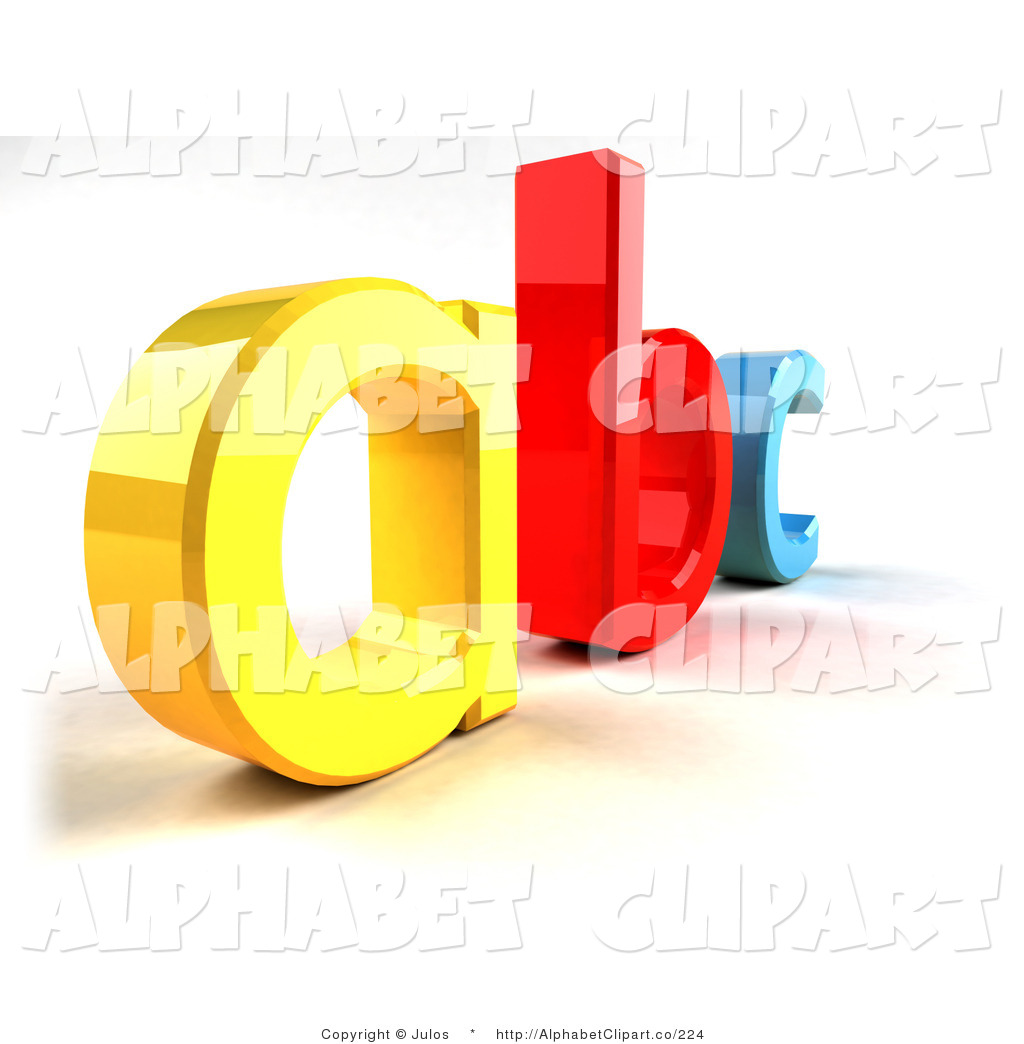 Yellow A Red B And Blue C In 3d 3d Cartoon Blue Letter C With Eyes