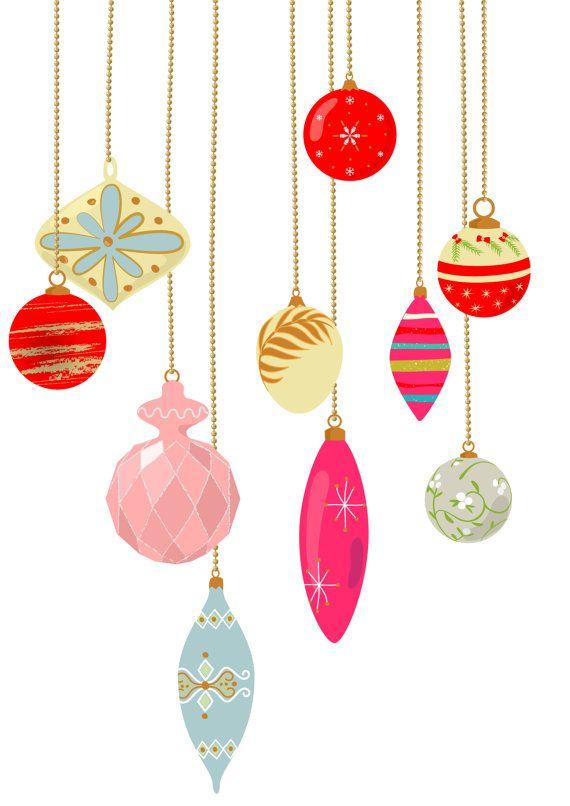 Vintage christmas ornament clipart suggest