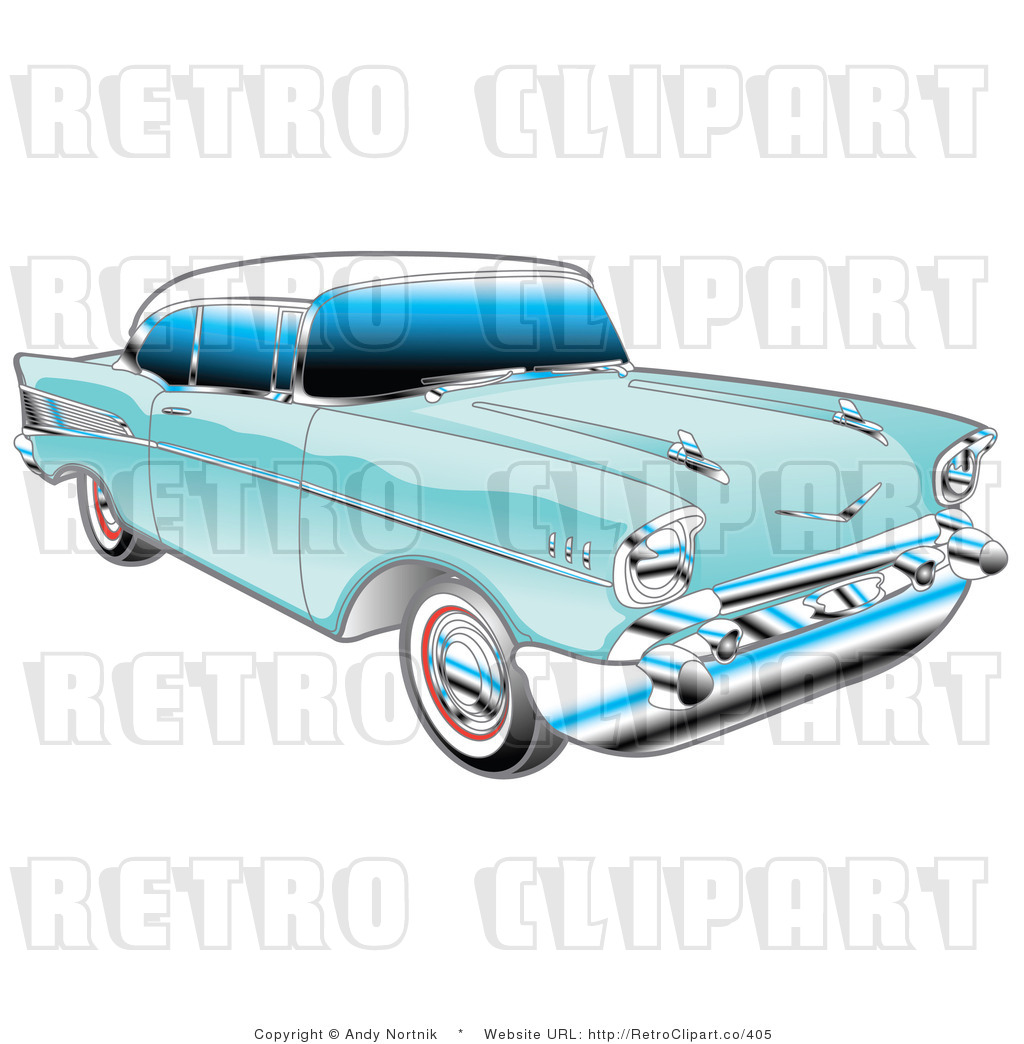 1957 Chevy Bel Air Retro Royalty Free Vector Clipart By Andy Nortnik