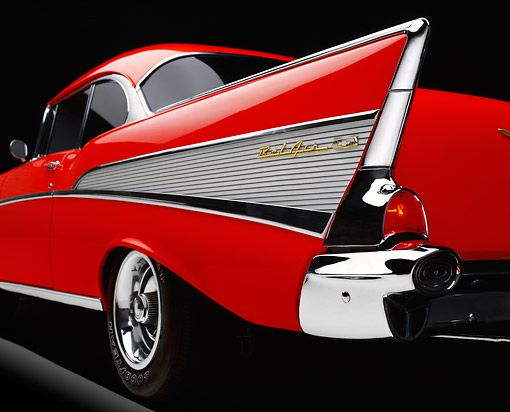 1957 Chevy Bel Air Tail Fin Clipart