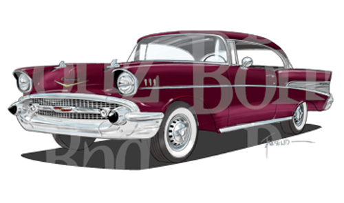 56 Chevy Clipart 1957 Chevy Belair