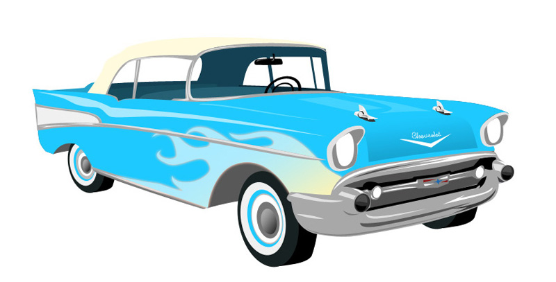 57 Chevy Cartoon   Lol Rofl Com
