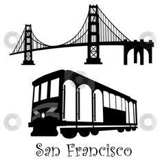 Bridge And Trolley Stencils More Cable Cars Idea Golden Gate Bridge