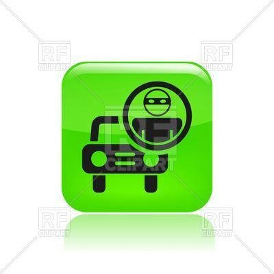Car Thief Icon   Criminal In Mask And Automobile Icons And Emblems