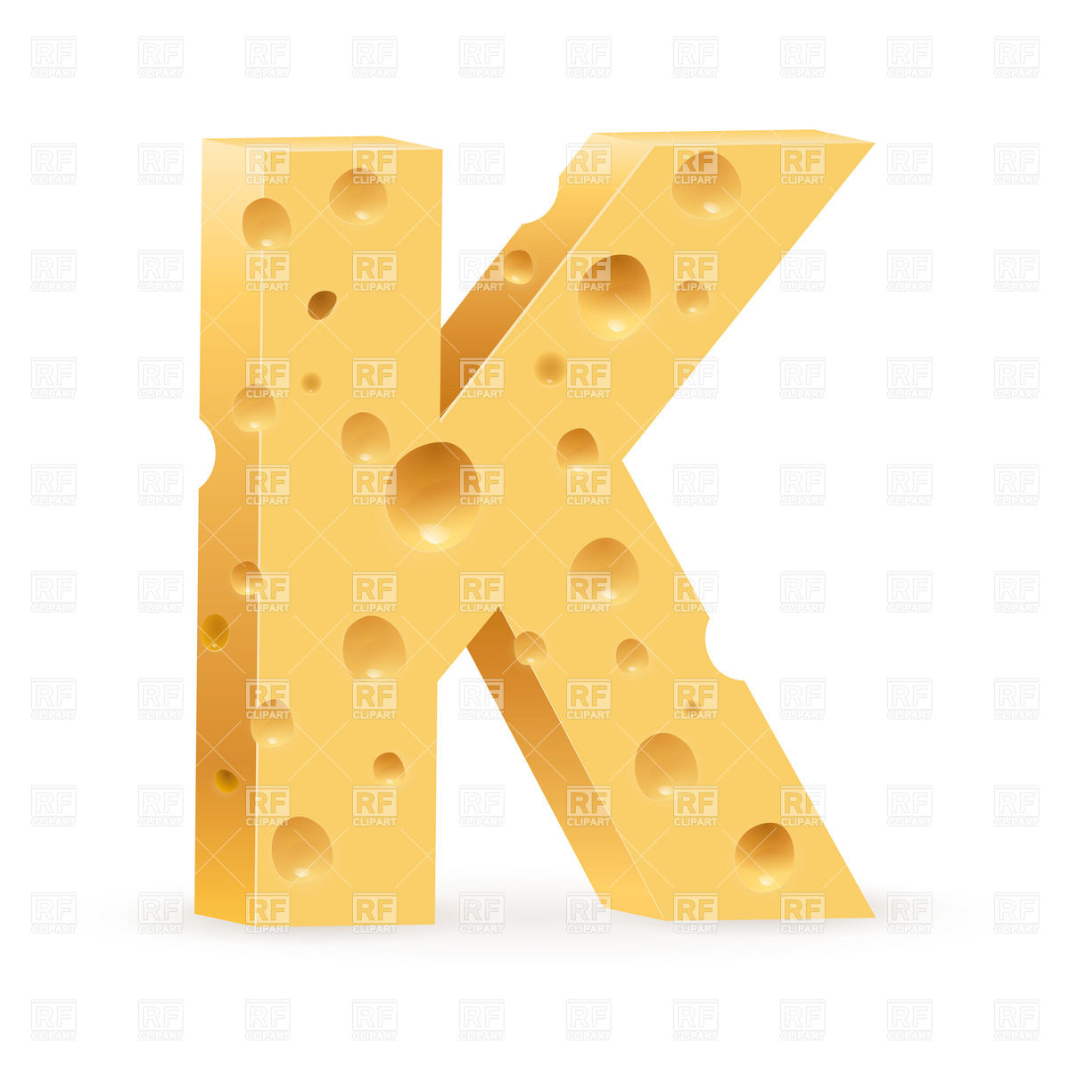 Cheese Font Letter K Download Royalty Free Vector Clipart  Eps