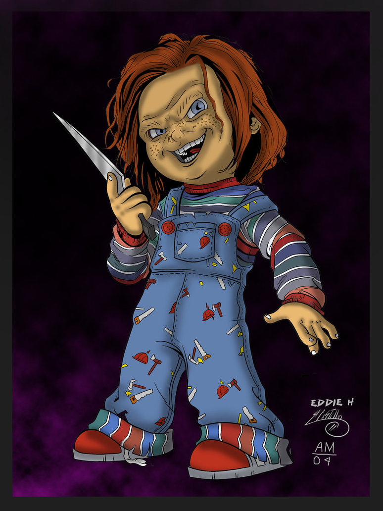 Chucky Clipart Black And White: Childs Play Chucky Drawings #vRsroc