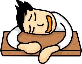 Clip Art Of A Sleepy Student Napping At His Desk