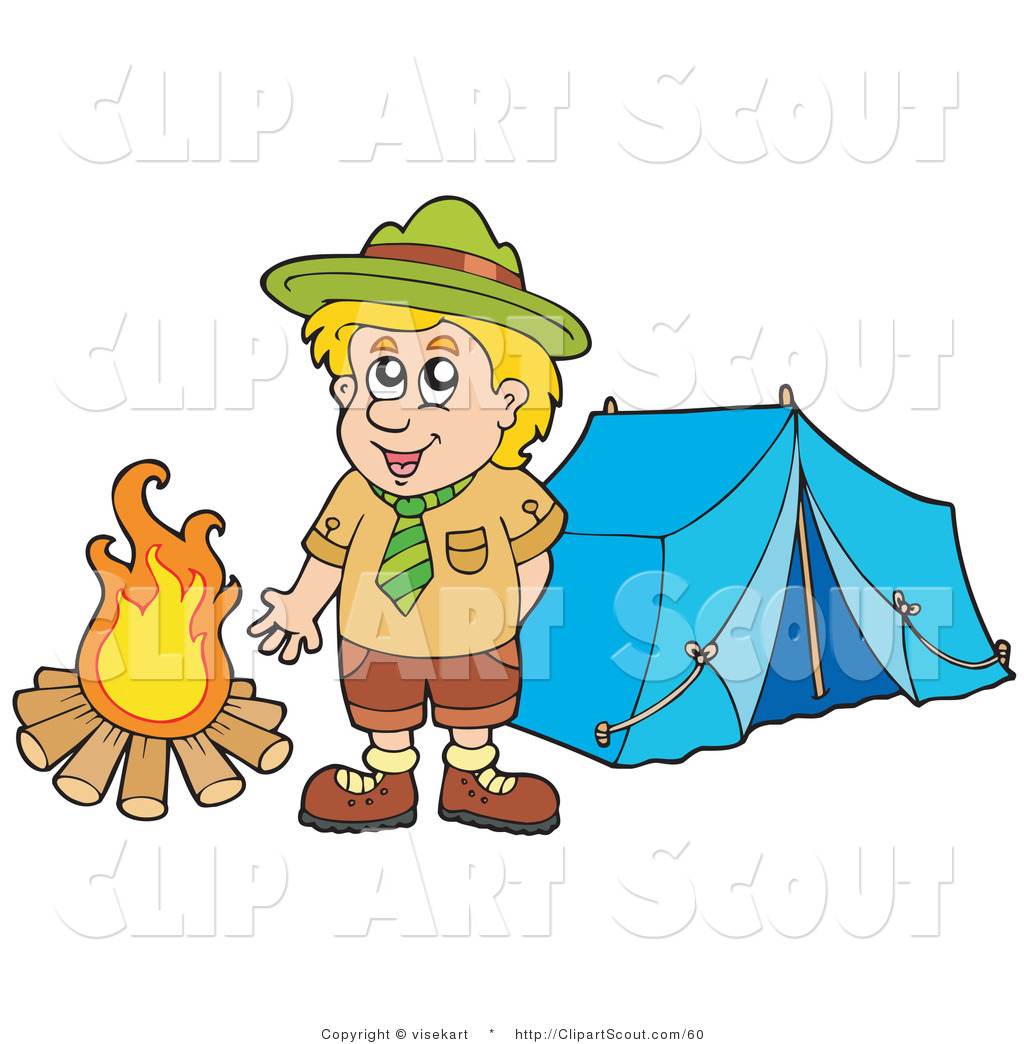 Girl Scout Camping Clipart Campfire Girl Scout Cl...
