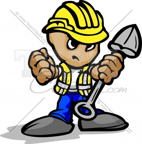 Cartoon Construction Worker Clipart - Clipart Kid