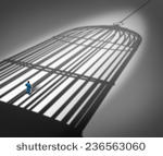 Feeling Trapped In A Prison      Shutterstock   Vector  236563060