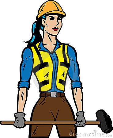 Female Construction Worker Clipart Female Construction Worker 18504586