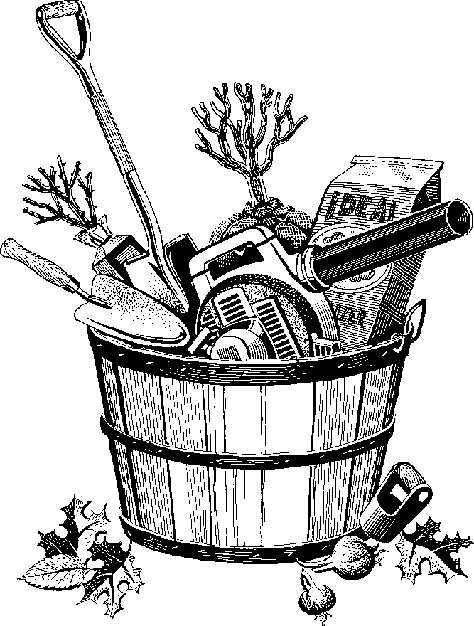 Garden tools black and white clipart clipart suggest for Gardening tools drawing