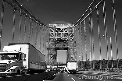 George Washington Bridge In Black And White Stock Photography   Image