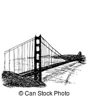 Golden Gate Bridge Isolated On The White Background