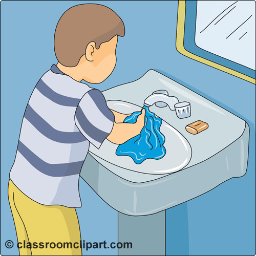 Health   Washing Hands Sink 02   Classroom Clipart