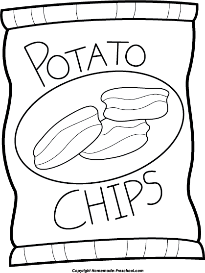 Home Free Clipart Picnic Clipart Potato Chip Bag