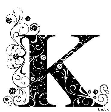 Image  Decorated Letter K    From 3   Simple Order And Direct