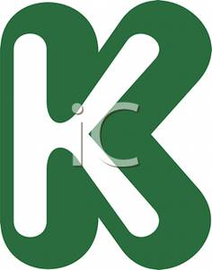 Letter K Logo Graphic   Royalty Free Clipart Picture