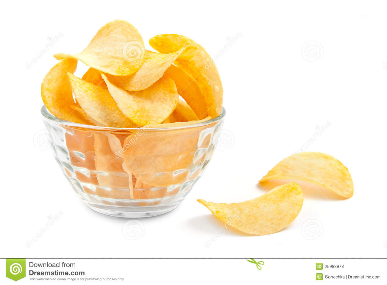 Potato Chips Bowl White