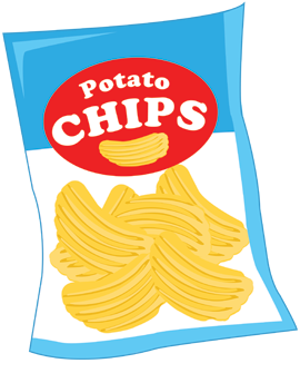 Potato Chips Stock Vectors, Clipart and Illustrations