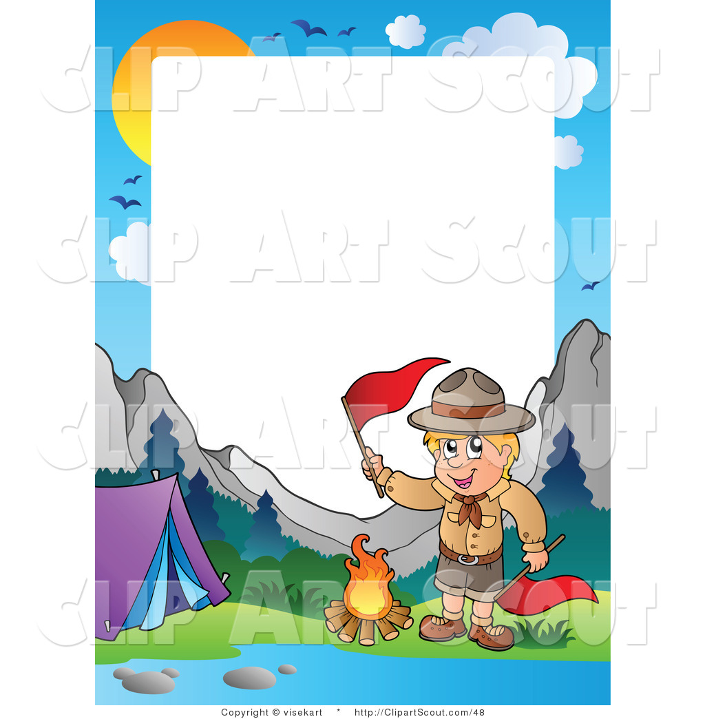 Scout Camping In The Wilderness Border Scout Clip Art Visekart