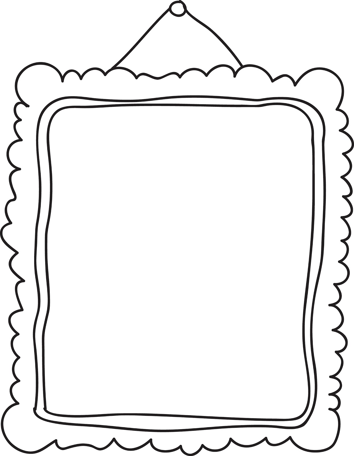 Picture Frame Cartoon Clipart - Clipart Kid