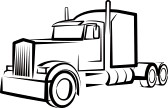 Semi Truck Clipart Black And White   Clipart Panda   Free Clipart