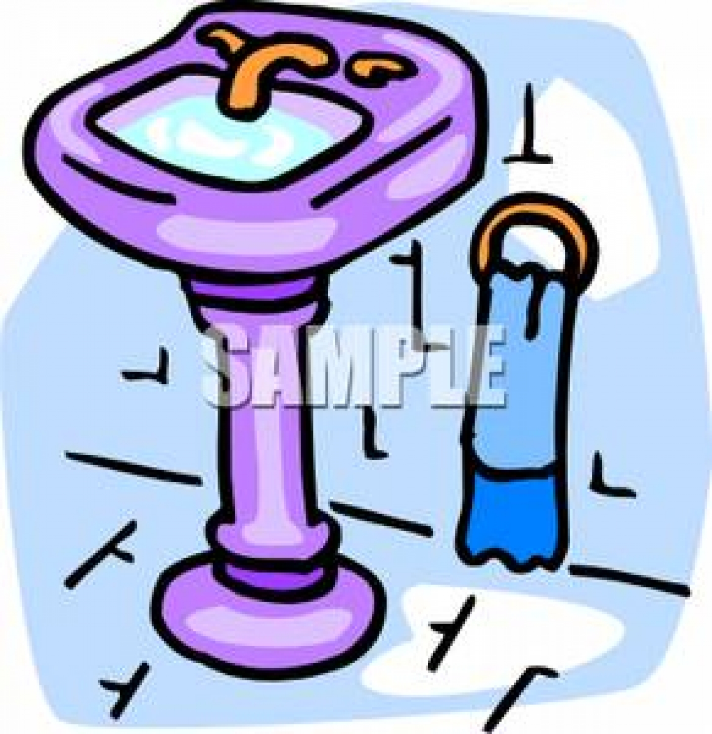 Sink Clipart 19920 Full Bathroom Sink Royalty Free Clipart Picture