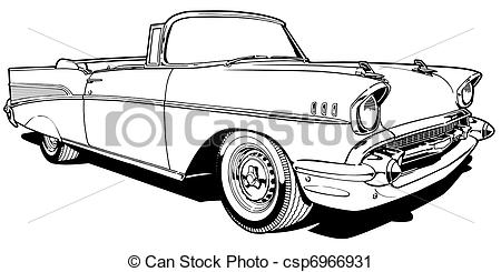 Stock Illustration   1957 Convertible   Stock Illustration Royalty