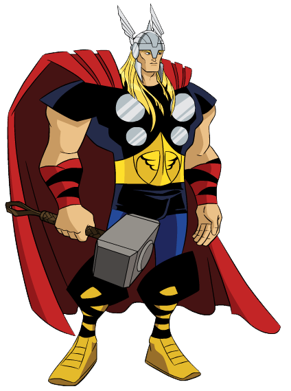 Super 4 Cartoon Characters : Thor clipart suggest