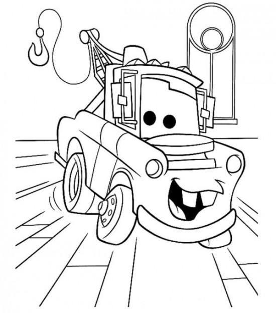 Tow Mater Cars Movie Coloring Pages Picture 1 550x624 Picture
